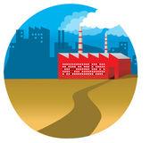 産業工場 — ストックベクタ