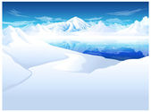 Snow capped Mountain — Stock Vector