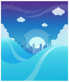 City skyline background — Stock Vector
