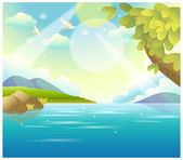 Water Landscape — Stock Vector