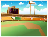 Baseball Stadium — Stock Vector
