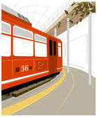 Electric railroad — Vector de stock