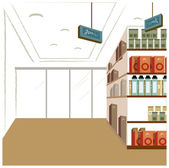 Convenience store — Stock Vector