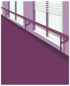 Office window with blind up — Stock Vector