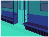 Subway train Interior — Stock Vector