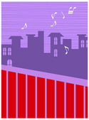 City music background — Stock Vector