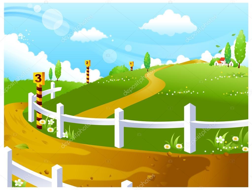 马场绿地景观 — 矢量图片作者 zzve