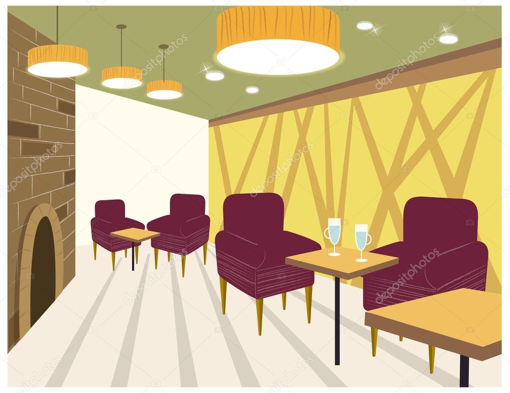 Restaurant interior — stock vector zzve