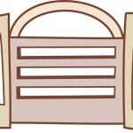 A gate — Stock Vector