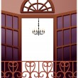 Stock Vector: Balcony