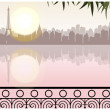 City of Sunset  — Stock Vector
