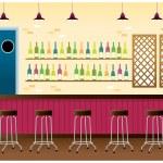 Bar interior — Stock Vector