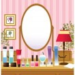 Dressing table — Stock Vector #13421929