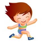 Portrait of happy girl — Stock Vector #13423510