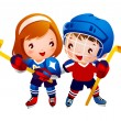 Royalty-Free Stock Vector Image: Ice hockey player