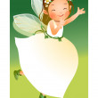 Stock Vector: Girl in fairy dress