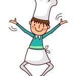 Portrait of Boy in chef uniform — Stock Vector