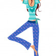 Stock Vector: Yoga girl