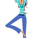 Yoga girl — Stock Vector #13426219