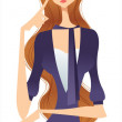 Stock Vector: Trendy woman