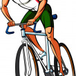 Stock Vector: Athlete cycling