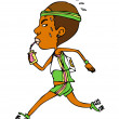 Funny runner before the finish - Image vectorielle