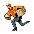 Working fast delivery — Stock Vector