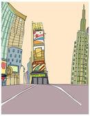 Cuadrangular en Nueva york — Vector de stock