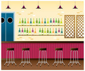 Bar interior — Stock Vector