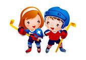 Ice hockey player — Stock Vector