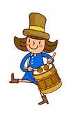 Porträtt av flicka som leker trumma — Stockvektor