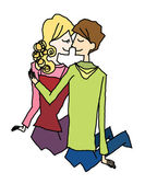 Boy And Girl loving — Stock Vector