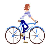 Girl on bicycle — Stock Vector