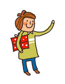 The guy holding a gift box — Stock Vector