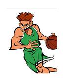 运动员打篮球 — 图库矢量图片