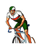 Athlete cycling — Stock Vector