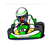 Sports car racer — Stock Vector