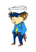 Funny police officer — Stock Vector