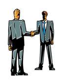 Businessmen shaking hands — Stock Vector