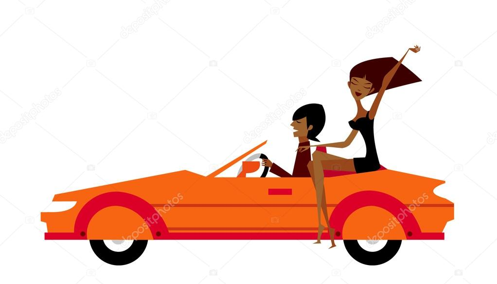 Couple in car   Stock Vector #13424601