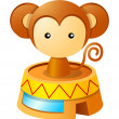 Royalty-Free Stock Vector Image: Circus monkey