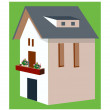 Stock Vector: Vector house