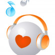 Vector icon headphone — Stock Vector