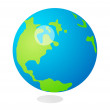 Vector icon Earth — Stock Vector