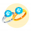Vector icon rings  — Stock Vector
