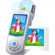 Stock Vector: Vector icon mobile phone and photo