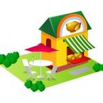 Vector icon chicken house — Stock Vector #13432475