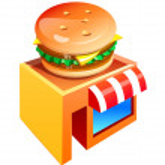 Vector icon hamburgur shop — Stock Vector #13432484