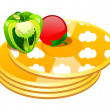 Vector icon pancake  — Stock Vector