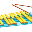 Stock Vector: Vector icon xylophone
